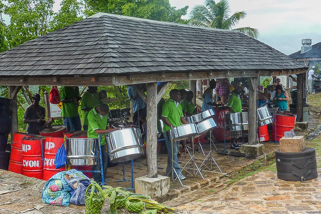 Steel pans at Shirley Heights