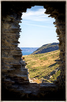 Looking out, Tintagel Castle