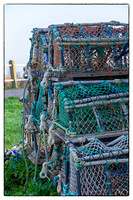 Crab pots, stacked