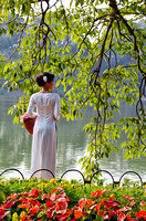 Woman at lakeside, Hanoi